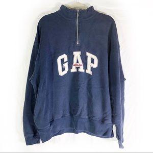 Vintage Gap Athletic Quarter Zip Fleece Sweater